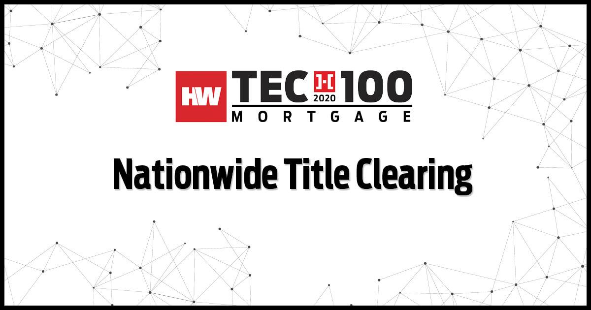 NTC Wins 2020 HW Tech100 Mortage Award