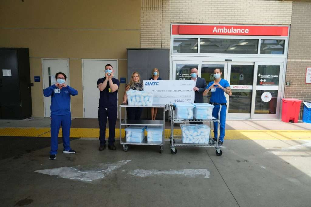 NTC Donates $25,000 And 8,000 Surgical Masks To ST. Joseph's Hospitals